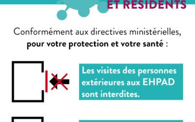 Covid-19 : Interdiction des visites et des sorties en EHPAD